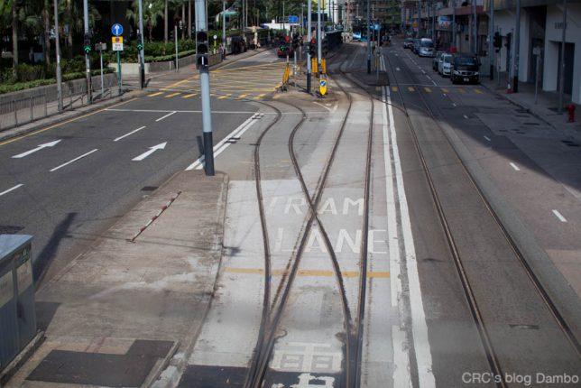 香港トラム線路