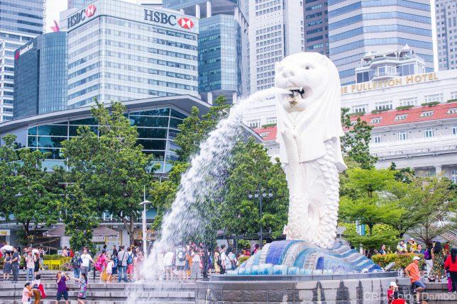 シンガポールマーライオン1