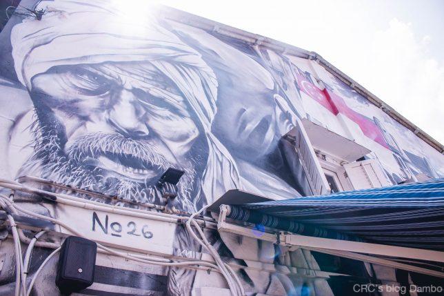 シンガポールアラブ通りの壁画