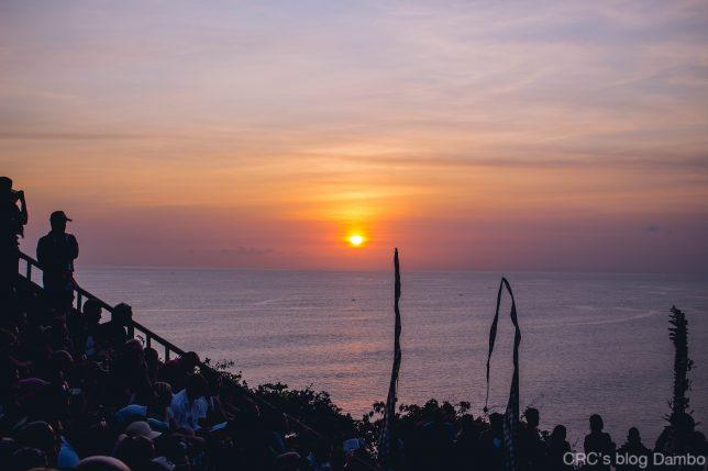インド洋に沈んでいく夕日