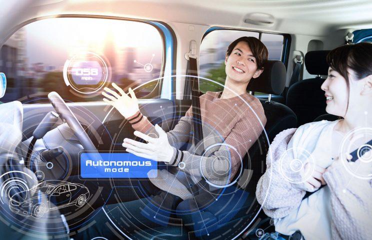 (9)自動運転:人が全く関与せず、全て自動で運転する